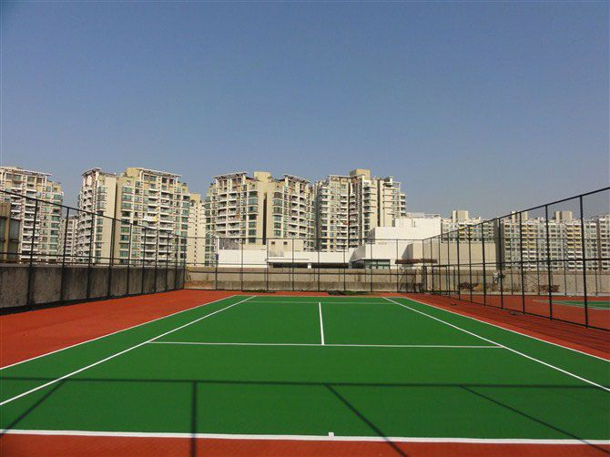 Acrylic tennis court