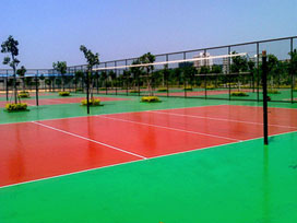 Silicon PU volleyball court