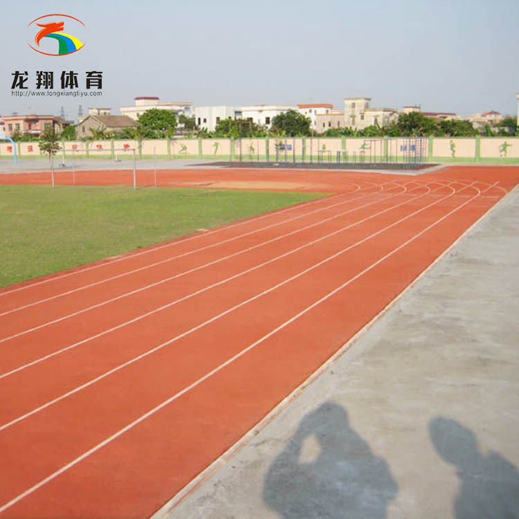 Breathable plastic track