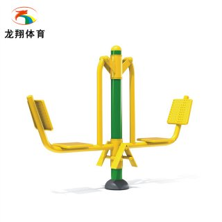 Outdoor fitness path equipment double sitting training device